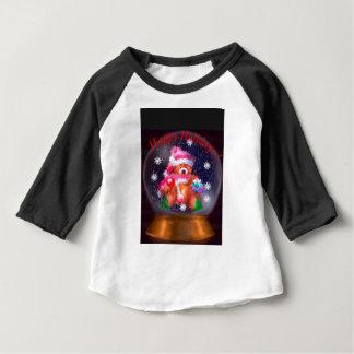 Camiseta Para Bebê Boas festas globo da neve
