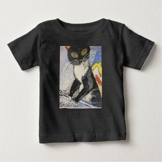 Camiseta Para Bebê bobble o smokey principal do gatinho