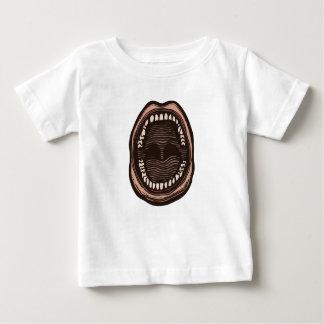 Camiseta Para Bebê Boca grande