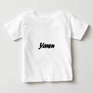 Camiseta Para Bebê bocejo