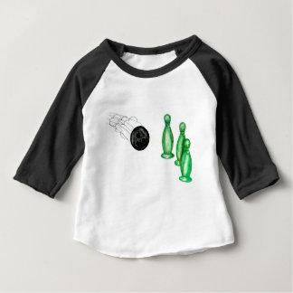 Camiseta Para Bebê Bola de boliche Sketch3