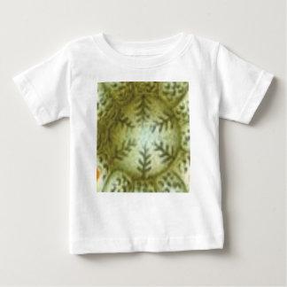 Camiseta Para Bebê bola de creme com samambaias