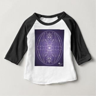 Camiseta Para Bebê Bola de cristal do dragão da mandala do gótico da