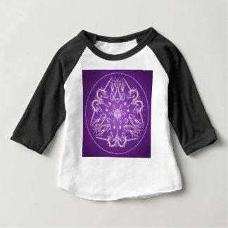 Camiseta Para Bebê Bola de cristal do dragão do unicórnio da mandala