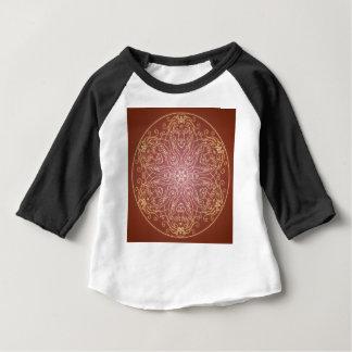 Camiseta Para Bebê Bola de cristal do gato do leão da mandala do