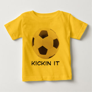 Camiseta Para Bebê Bola de futebol