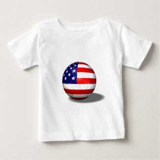 Camiseta Para Bebê bola de futebol EUA
