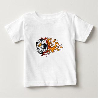 Camiseta Para Bebê Bola de futebol irritada dos meninos