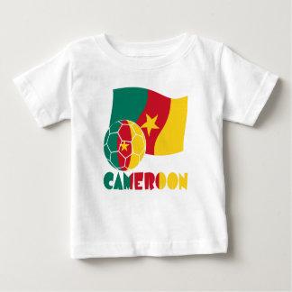 Camiseta Para Bebê Bola e bandeira de futebol de República dos