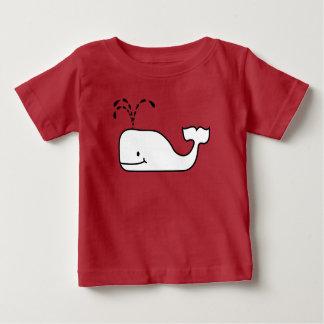 Camiseta Para Bebê Bolha engraçada do contorno preto e branco acima