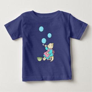 Camiseta Para Bebê Bolhas de sopro do tubo - desenhos animados do