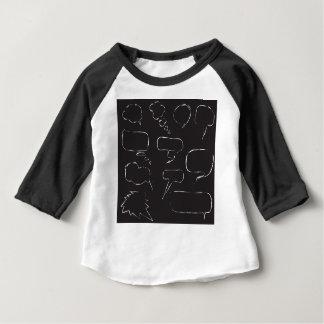 Camiseta Para Bebê Bolhas do discurso