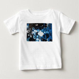 Camiseta Para Bebê Bolhas pretas & azuis