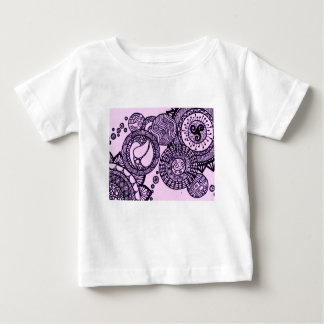 Camiseta Para Bebê Bolhas roxas