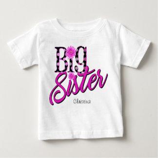 Camiseta Para Bebê Bolinhas cor-de-rosa da irmã mais velha