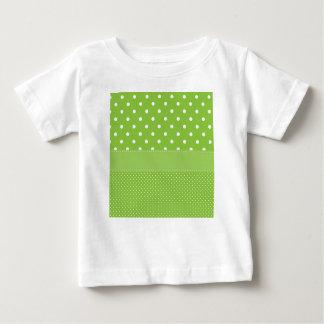 Camiseta Para Bebê Bolinhas verdes