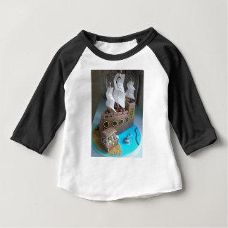 Camiseta Para Bebê Bolo 1 do navio