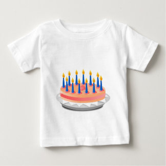 Camiseta Para Bebê Bolo de aniversário