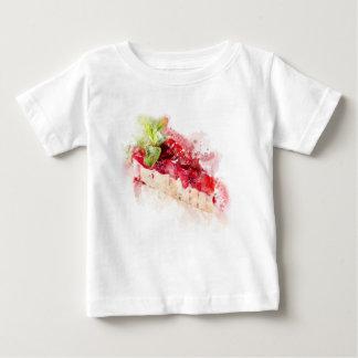 Camiseta Para Bebê Bolo de queijo da aguarela