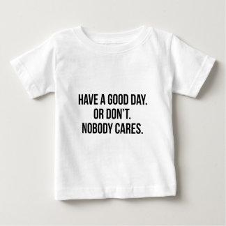 Camiseta Para Bebê Bom dia