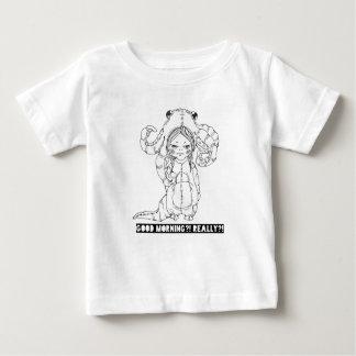 Camiseta Para Bebê Bom dia? Realmente?