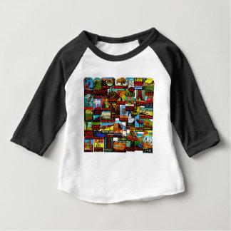 Camiseta Para Bebê Bomba americana do decalque do vintage dos parques