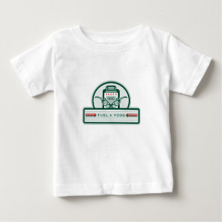 Camiseta Para Bebê Bomba de gás cruzada do bocal de combustível retro
