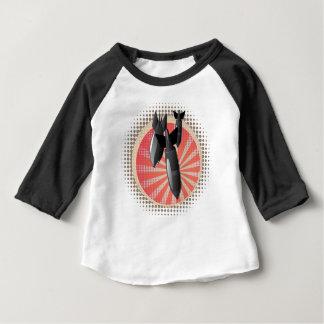 Camiseta Para Bebê Bomba do ar dos desenhos animados