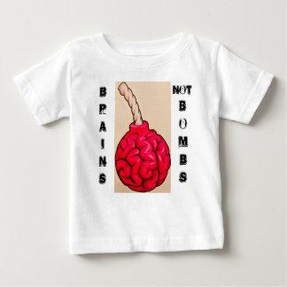Camiseta Para Bebê Bombas dos cérebros não