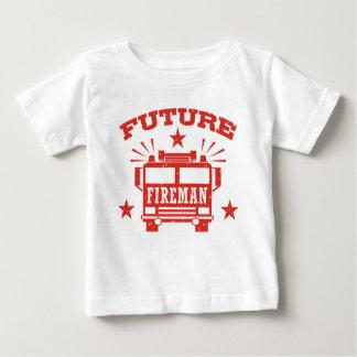 Camiseta Para Bebê Bombeiro futuro