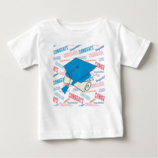 Camiseta Para Bebê Boné de formatura e diploma azuis de Dodger