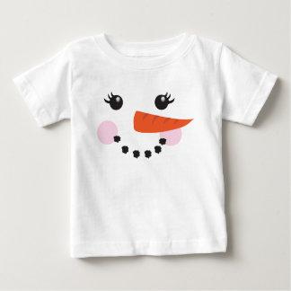 Camiseta Para Bebê Boneco de neve da menina