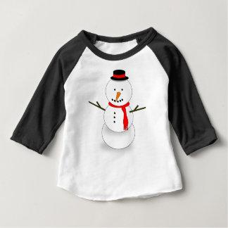 Camiseta Para Bebê Boneco de neve do Feliz Natal