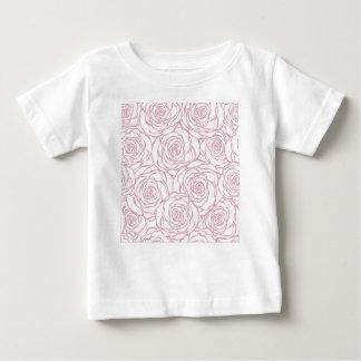 Camiseta Para Bebê bonito, floral.pink, branco, peônias, femininos,