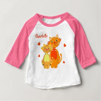 Camiseta Para Bebê Bonito super do gato e do gatinho do gengibre