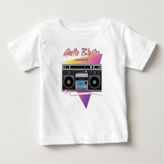 Camiseta Para Bebê boombox do dinamitador do gueto dos anos 80