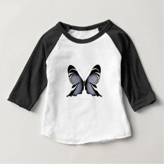 Camiseta Para Bebê Borboleta azul 3 Sulawesi Woodtree
