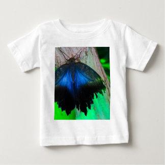 Camiseta Para Bebê Borboleta azul comum