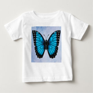 Camiseta Para Bebê Borboleta azul de Morpho