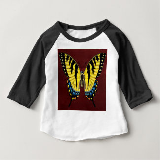 Camiseta Para Bebê Borboleta de Swallowtail do tigre
