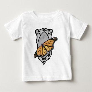 Camiseta Para Bebê Borboleta do espelho