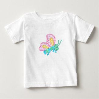 Camiseta Para Bebê Borboleta multicolor bebé