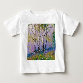 Camiseta Para Bebê Bosque do vidoeiro