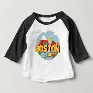 Camiseta Para Bebê Boston como um destino