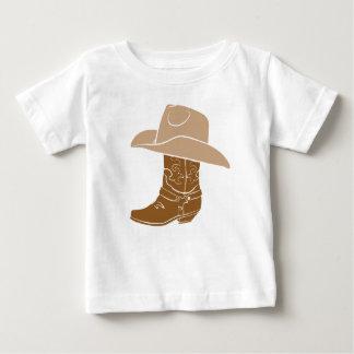 Camiseta Para Bebê Bota e chapéu de vaqueiro
