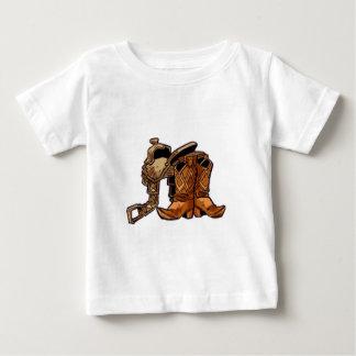 Camiseta Para Bebê Botas e sela
