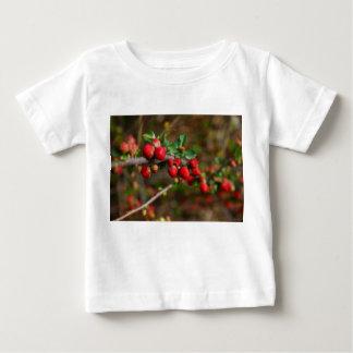 Camiseta Para Bebê Botões do primavera vermelho