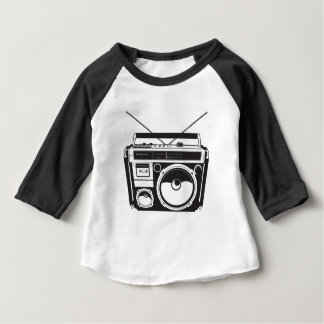 Camiseta Para Bebê ☞ box de boom Oldschool, Cassette Player/