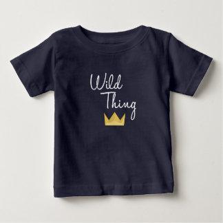 Camiseta Para Bebê Branco da coroa dos matchies de RWT