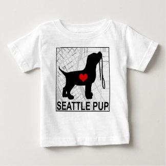 Camiseta Para Bebê Branco do t-shirt da criança do filhote de